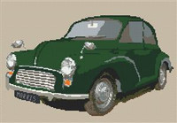 Morris Minor Car Cross Stitch Chart
