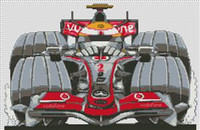 Mclaren Hamilton F1 Caricature Cross Stitch Chart