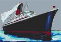 Qe2 Cruise Ship Cross Stitch Chart