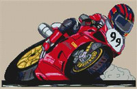 Racer 99 Cross Stitch Chart