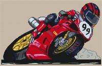 Racer 99 Cross Stitch Chart
