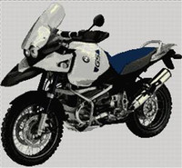 Bmw 2005 Gs 1150 Adventure Motorbike Cross Stitch Chart
