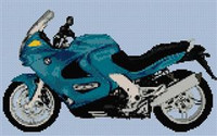 Bmw K1200 Rs Motorbike Cross Stitch Chart