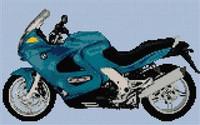 Bmw K1200 Rs Motorbike Cross Stitch Chart