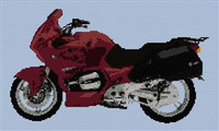 Bmw R1100L Motorcycle Cross Stitch Chart