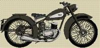 Bsa D3 Bantam 1948 Cross Stitch Chart