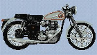 Bsa Goldstar Motorcycle Cross Stitch Chart