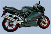 Ducati  1000  Ds Cross Stitch Chart