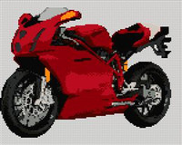 Ducati 999 Motorcycle Cross Stitch Chart