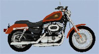 2007 Harley-Davidson Xl50 50Th Anniversary Sportster Cross Stitch Chart