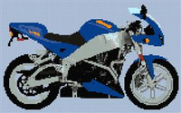 Buell Xb9R Cross Stitch Chart