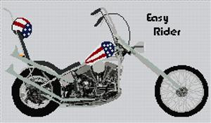 Easy Rider Chopper Cross Stitch Chart