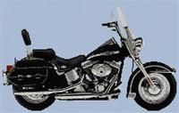 Harley Anniversary Heritage 2003 Cross Stitch Chart