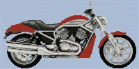 Harley Davidson 2006 Street Rod Cross Stitch Pattern