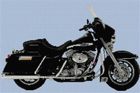 Harley Davidson Electra Glide 2003 Anniversary Edition Cross Stitch Chart