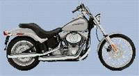 Harley Davidson Limited Edition Platinum Softtail Cross Stitch Chart