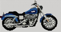 Harley Davidson Low Rider Cross Stitch Chart