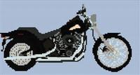 Harley Davidson Night Train Cross Stitch Chart