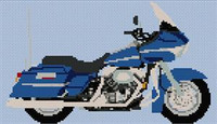 Harley Davidson Road Glide Cross Stitch Chart