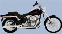 Harley Davidson Softtail Cross Stitch Chart