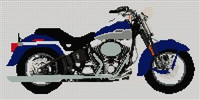 Harley Davidson Softtail Springer Cross Stitch Chart