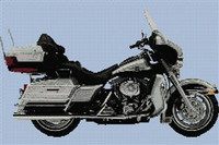 Harley Davidson Ultra Glide 2003 Anniversary Edition Cross Stitch Chart