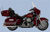 Harley Davidson Ultra Glide Anniversary Edition Cross Stitch Chart