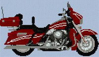 Harley Davidson Ultra Glide Cross Stitch Chart