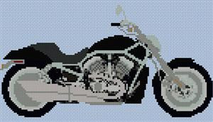 Harley Davidson V Rod Cross Stitch Chart