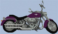 Harley Fat Boy Custom Cross Stitch Chart