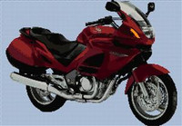 Honda Deauville Red Motorcycle Cross Stitch Chart (Large)