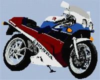 Honda Vfr400 Nc30 Motorcycle Cross Stitch Chart