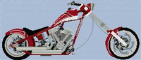 Orange County Chopper (Snap On Tools) Cross Stitch Chart