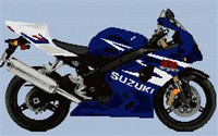 Suzuki Gsxr 600 K4 Motorcycle Cross Stitch Chart