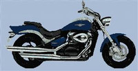 Suzuki Intruder 800 Motorcycle Cross Stitch Chart