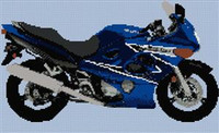 Suzuki Katana Motorcycle Cross Stitch Chart