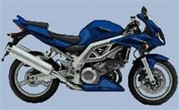 Suzuki Sv1000S Motorbike Cross Stitch Chart