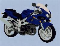Suzuki Tl1000S  Motorcycle Cross Stitch Chart