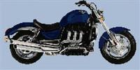 Triumph Rocket Iii Motorcycle Cross Stitch Chart