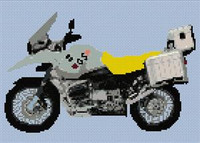 Bmw Gs Motorcycle / Motorbike Cross Stitch Pattern