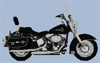Harley Davidson Heritage Softtail Cross Stitch Chart