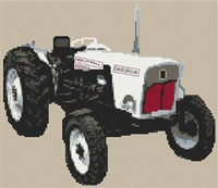 David Brown Tractor Cross Stitch Chart