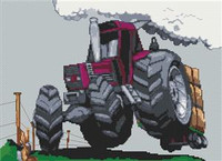 Fiat Agri 880 Tractor Cross Stitch Chart