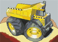 Dumper Truck Cross Stitch Chart