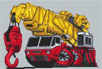 Heavy Lift Crane Cross Stitch Chart