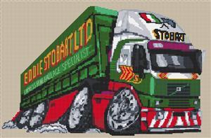 Eddie Stobart Lorry Cross Stitch Chart
