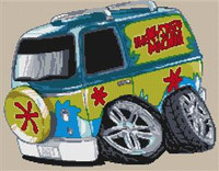 Mystery Machine Cross Stitch Chart