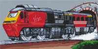 Virgin Intercity Train Cross Stitch Chart