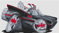 Batmobile 1960S Classic Cross Stitch Chart