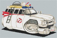 Ghostbusters Cadillac Cross Stitch Chart